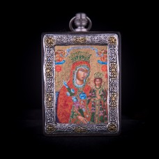002/0034   Silver icon of virgin Mary