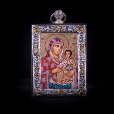 002/0037 silver icon of Virgin Mary of jerusalem