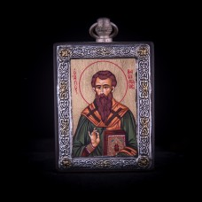 002/0038 silver icon of saint Basilious