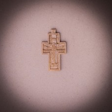 005/0035 Wooden  cross hand carved