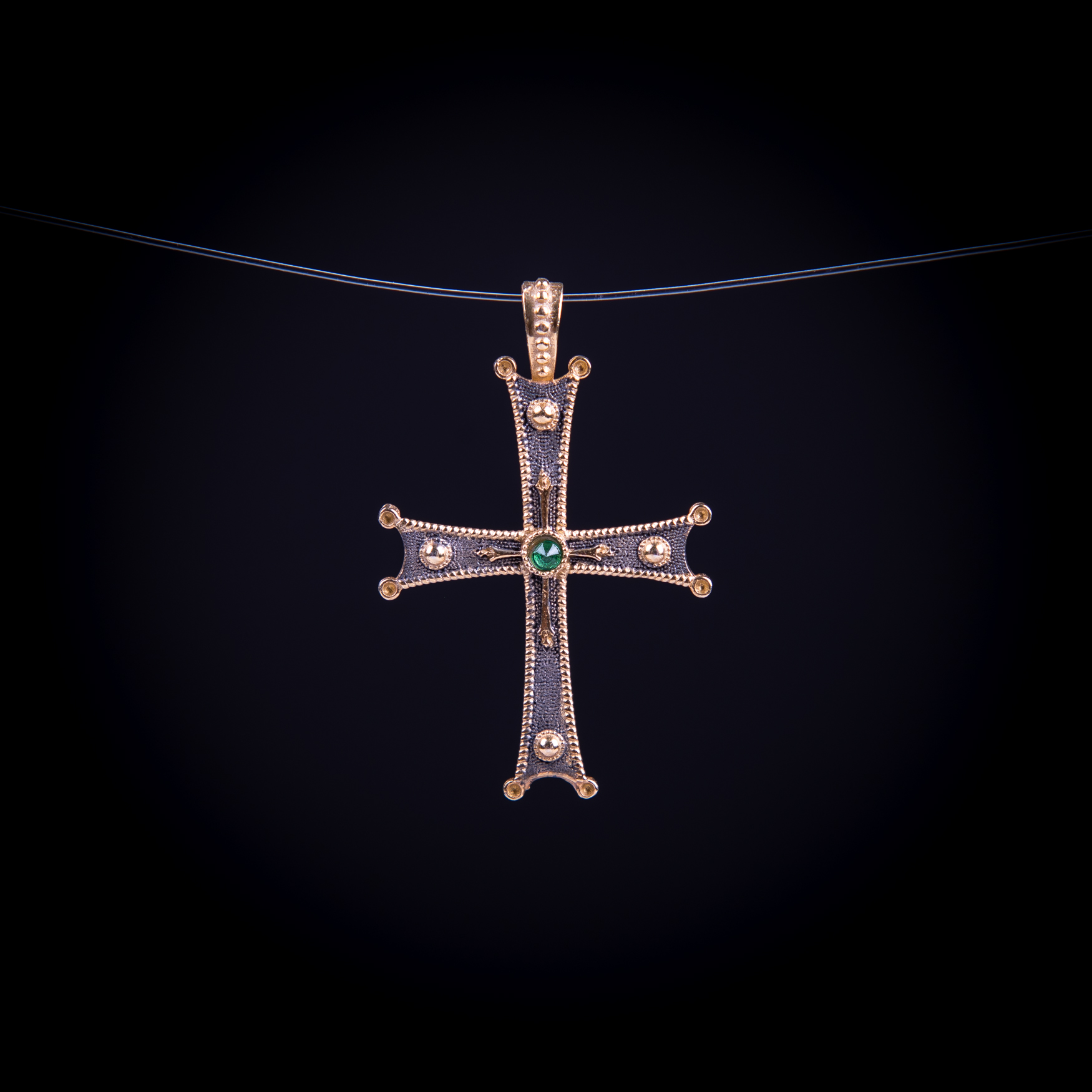 003/0137 Silver gold plating cross
