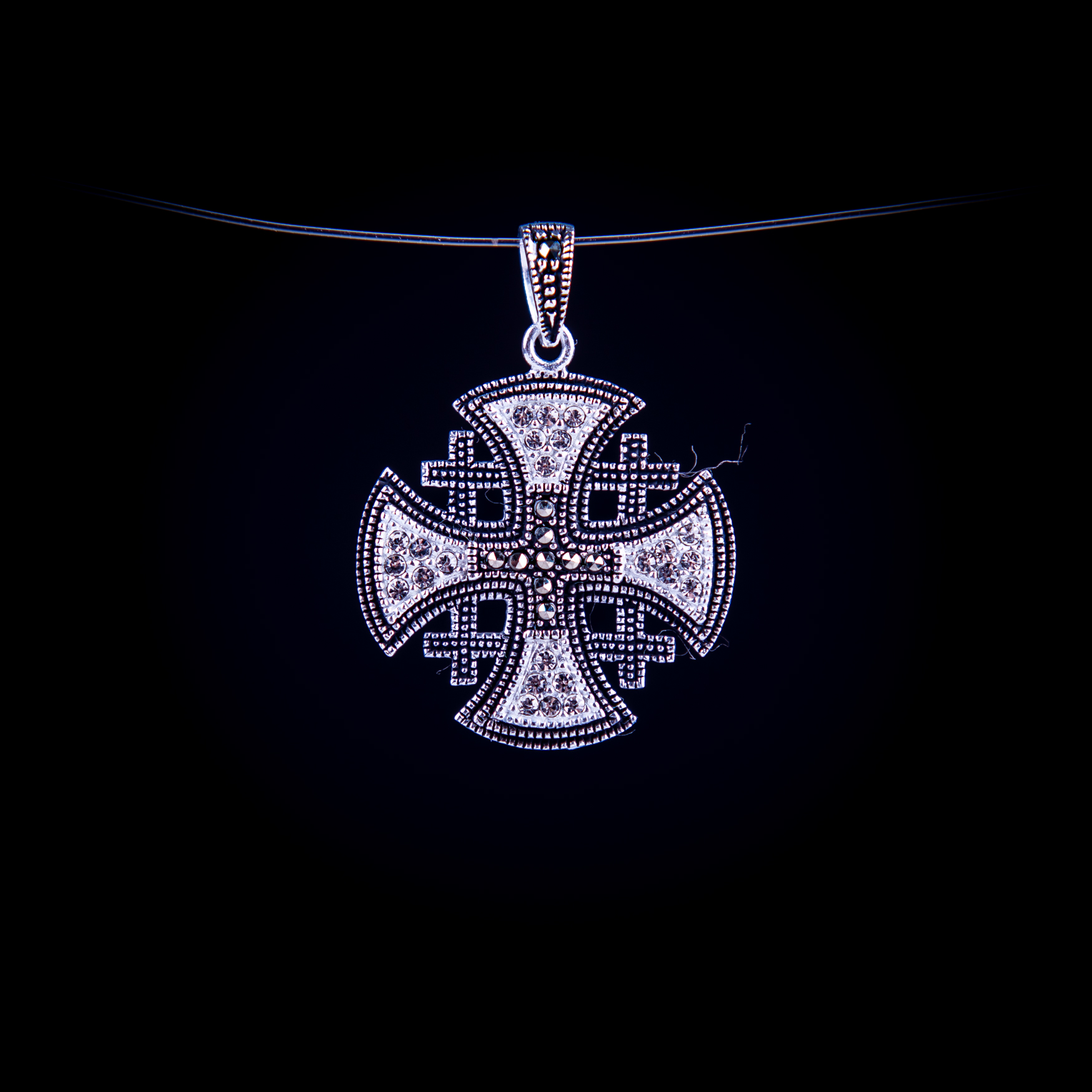 003/0209 Silver jerusalem cross